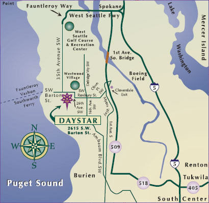 image relating to Printable Map of Seattle titled Guidelines toward Daystar Senior Dwelling Regional Daystar