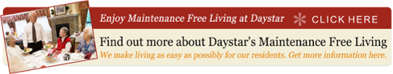 Learn More About Maintenance Free Living at Daystar